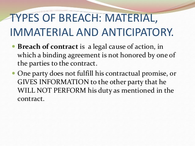 types of breach of contract pdf