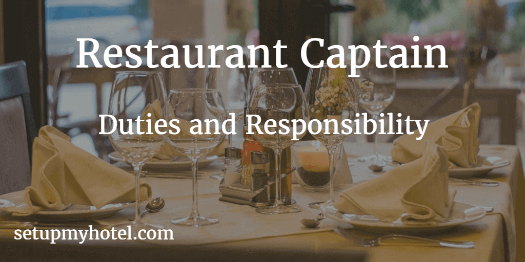 restaurant captain job description pdf