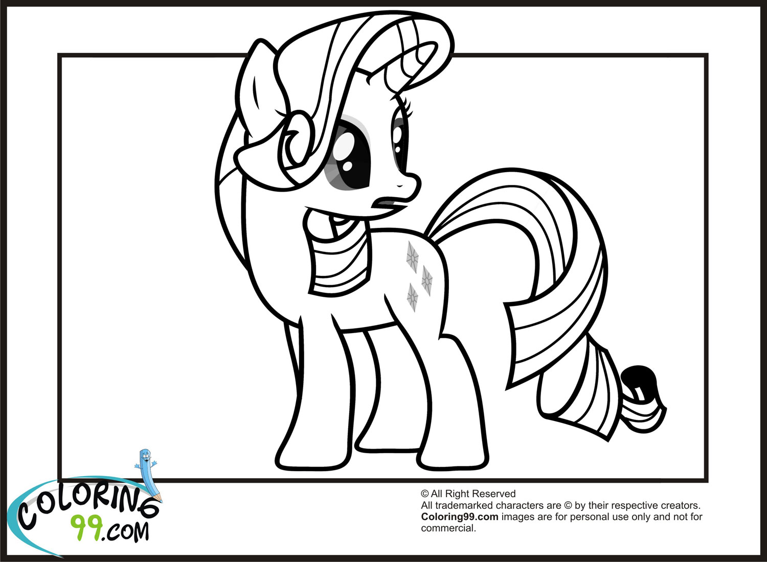 my little pony rarity colouring pages pdf
