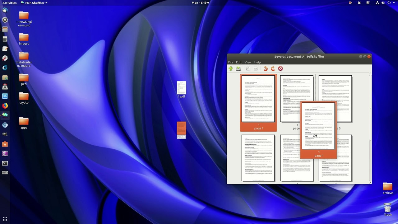 remove pages from pdf linux