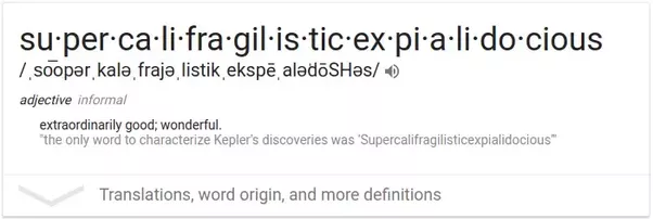 is supercalifragilisticexpialidocious a real word in the dictionary