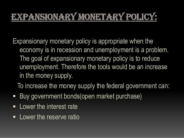 types of monetary policy pdf