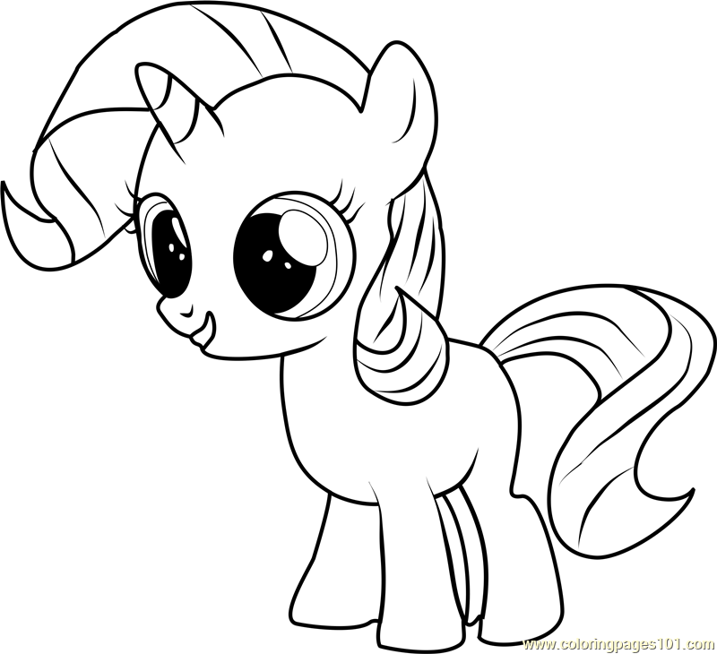 My little pony rarity colouring pages