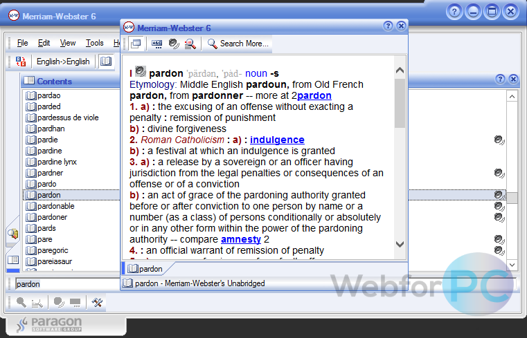 merriam webster dictionary for windows 10