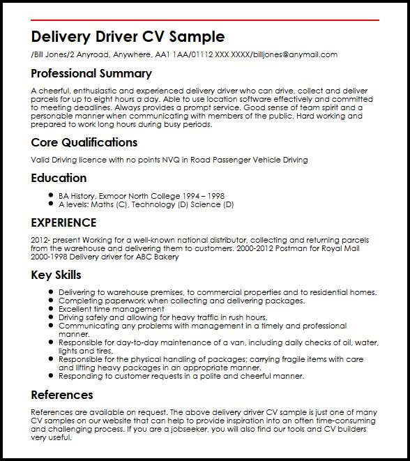 simple application letter for driver position pdf