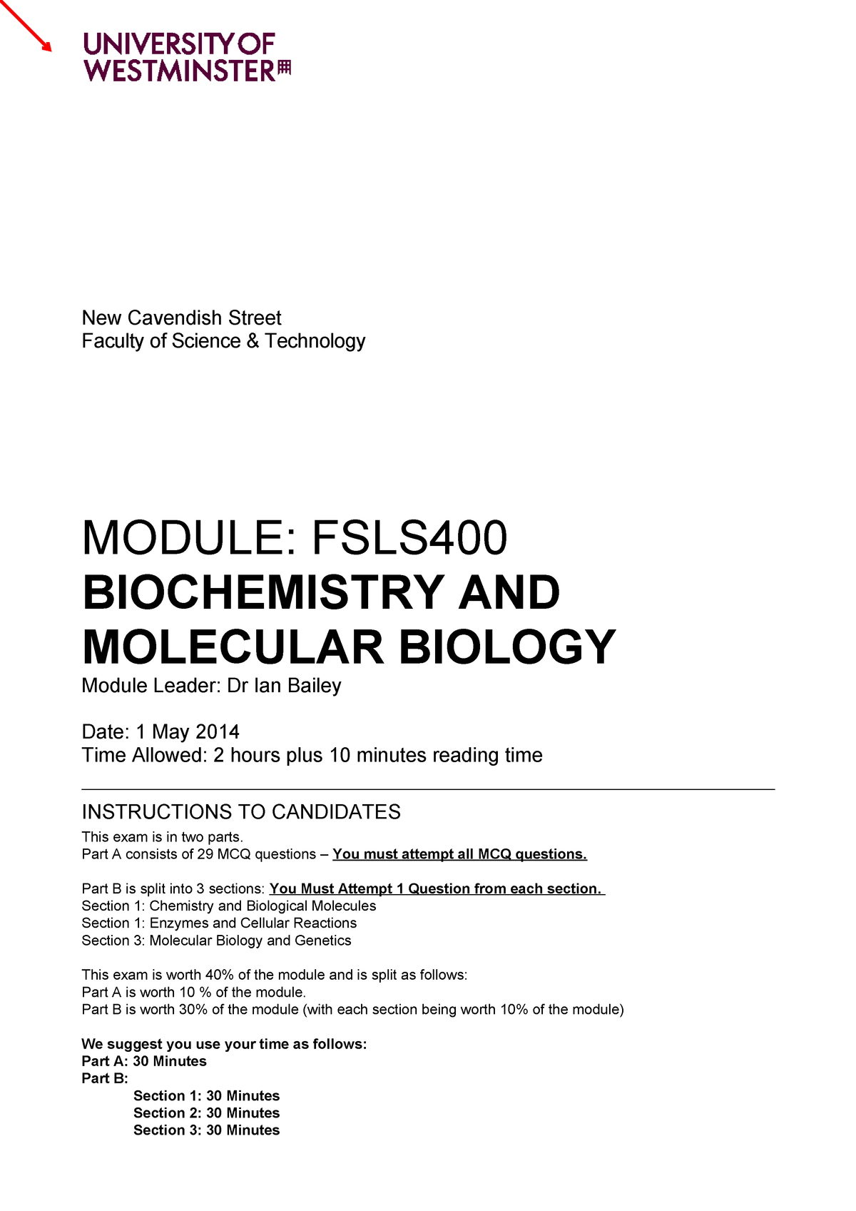 molecular biology exam 1 pdf