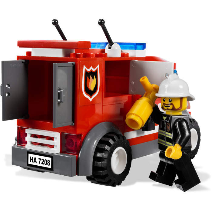 lego fire station instructions 7208